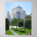 Jeque Zayed Grand Mosque cubre con una cúpula 1 Posters