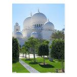 Jeque Zayed Grand Mosque cubre con una cúpula 1 Tarjetas Postales