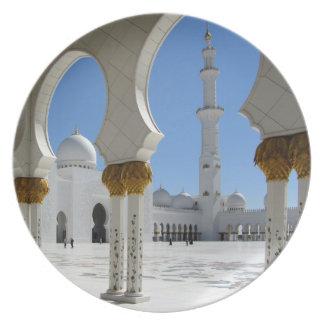 Jeque Zayed Grand Mosque Porticos 1 Platos Para Fiestas