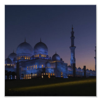Jeque Zayed Mosque Póster