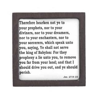 Jer. 27: 9-10 gift box