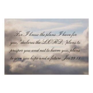 Jer 29:11: For I know the plans Poster