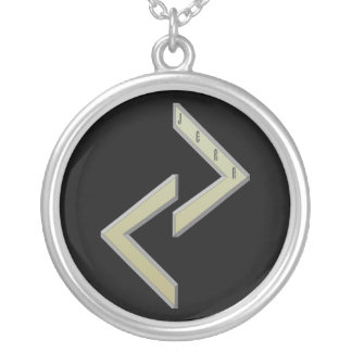 Jera Rune gold Silver Plated Necklace