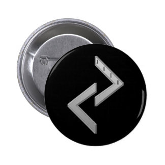 Jera Rune grey Pinback Button