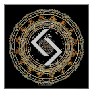 ☼JERA - Rune of Time ☼ Poster