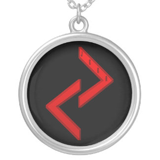 Jera Rune red Silver Plated Necklace