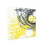 Jerarquía abstracta en blanco, gris y amarillo impresiones en lienzo estiradas