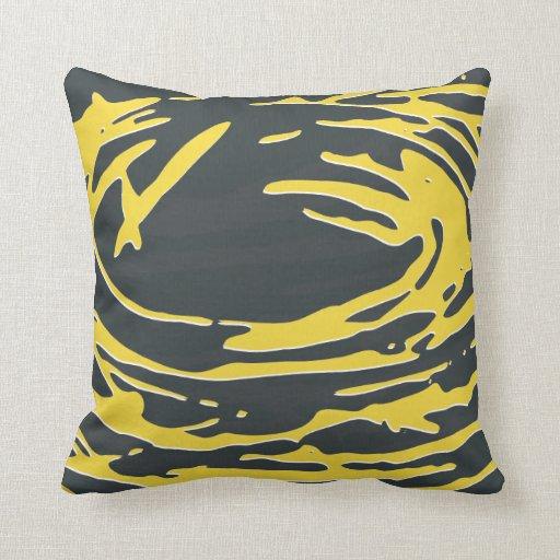 Jerarquía abstracta en gris y amarillo cojín