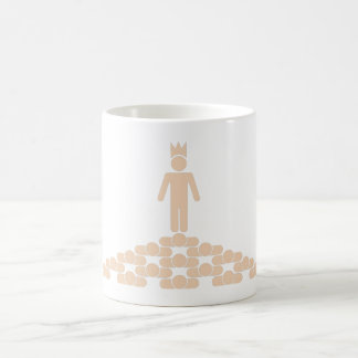 Jerarquía con el rey en el top taza