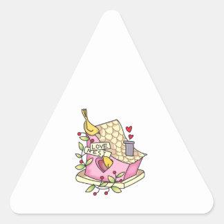 Jerarquía de amor 1 pegatinas trianguladas personalizadas