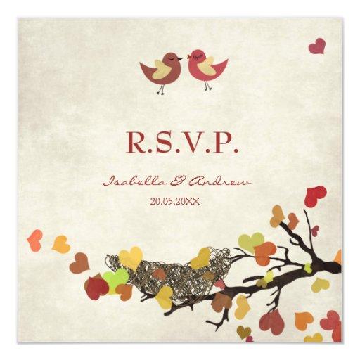 Jerarquía de amor - casar la tarjeta de RSVP Invitación 13,3 Cm X 13,3cm