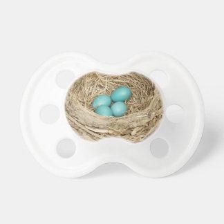 Jerarquía del huevo del pájaro del petirrojo chupete de bebe