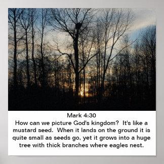 Jerarquía del reino de dios póster