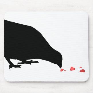 jerarquía. mirlo y corazones rojos tapete de raton