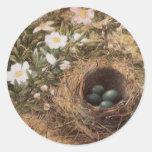 Jerarquía y Dogroses de los pájaros por la colina, Pegatina Redonda