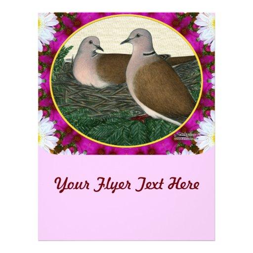 """Jerarquía y flores de la paloma folleto 8.5"""" x 11"""""""