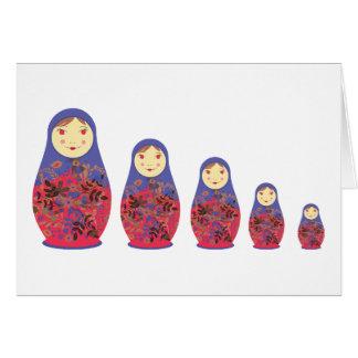 Jerarquización rusa/Babushka del ~ de la muñeca de Tarjeta De Felicitación