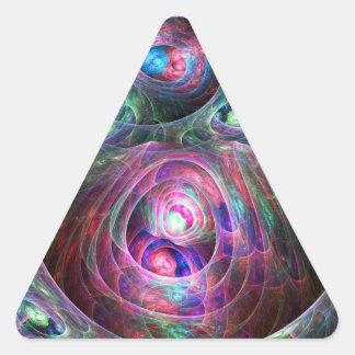 Jerarquizado Pegatina Triangular