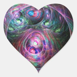 Jerarquizado Pegatina En Forma De Corazón