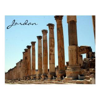 jerash column street postcard