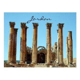 jerash columns jordan postcard