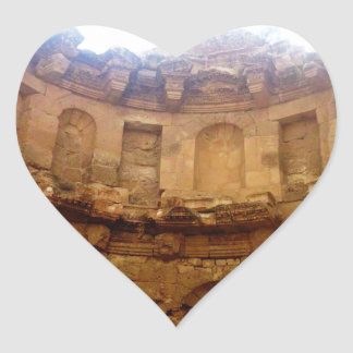 Jerash Roman Architecture Heart Sticker