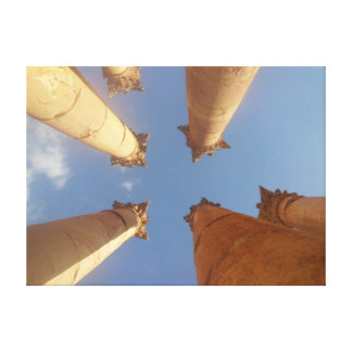 Jerash Roman Columns Canvas Print