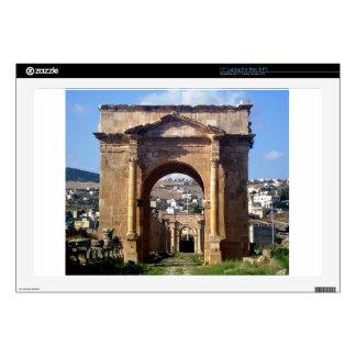 "Jerash Roman Gateway Decals For 17"" Laptops"