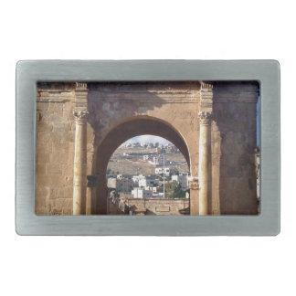 Jerash Roman Gateway Rectangular Belt Buckle