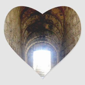 Jerash Roman Theater Hallway Heart Sticker