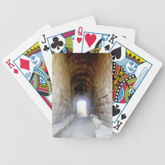 Jerash Roman Theater Hallway Bicycle Playing Cards
