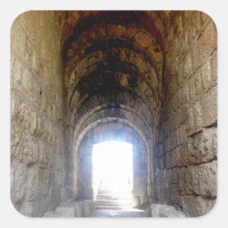 Jerash Roman Theater Hallway Square Sticker