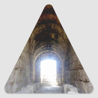 Jerash Roman Theater Hallway Triangle Sticker