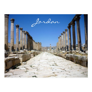 jerash street postcard