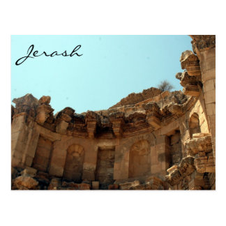 jerash theater ancient post card