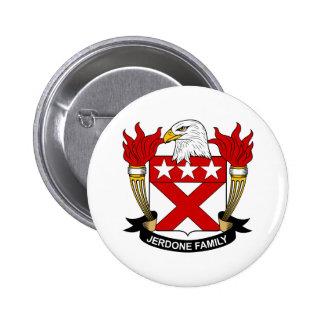 Jerdone Family Crest Pinback Buttons
