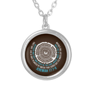 Jeremiah 17:7-8 Tree Rings Silver Plated Necklace