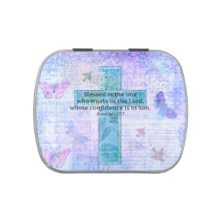... 17:7 Blessed is the man Bible verse cross Jelly Belly Candy Tins