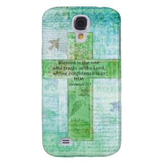 Jeremiah 17:7 Blessed is the man Bible verse cross Galaxy S4 Cover
