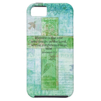 Jeremiah 17:7 Blessed is the man Bible verse cross iPhone SE/5/5s Case