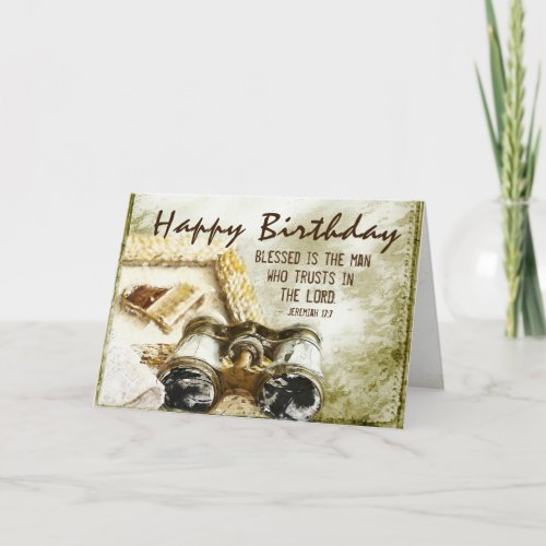 Jeremiah 17:7 Blessed is the Man, Birthday Card