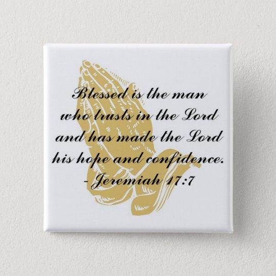 Jeremiah 17:7 Button