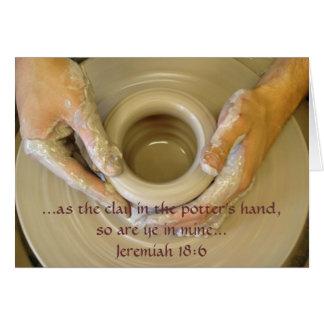 Jeremiah 18:6 - Blank Inside Stationery Note Card