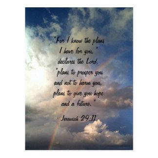Jeremiah 19:11 Rainbow Postcard