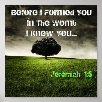 JEREMIAH 1:5 (tree) Poster