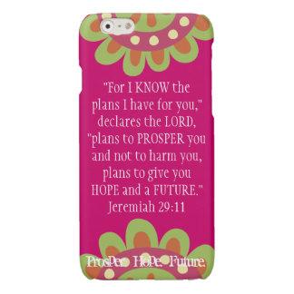 Jeremiah 2911 Scripture iPhone Prosper Hope Future Glossy iPhone 6 Case