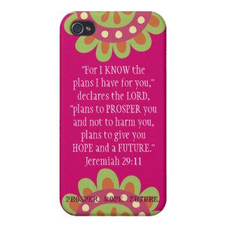 Jeremiah 2911 Scripture iPhone Prosper Hope Future iPhone 4/4S Covers