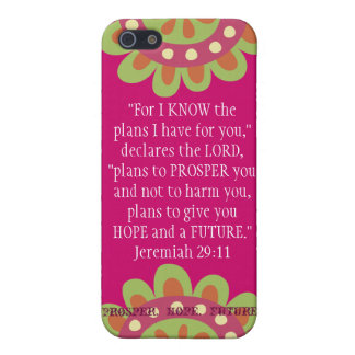 Jeremiah 2911 Scripture iPhone Prosper Hope Future Cover For iPhone 5