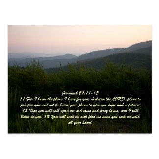Jeremiah 29:11-13 postcard