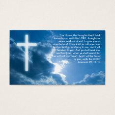 Jeremiah 29; 11-14 | Blue Christian Business Card at Zazzle